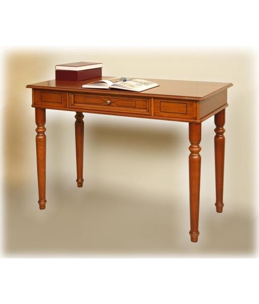 decorated desk in wood, wooden desk, writing desk, turned legs desk, study room desk, wooden furniture, classic style desk, Arteferretto furniture, Arteferretto desk