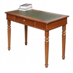 carved desk, wooden desk, classic desk, desk for office, office desk, desk with leather top, classic style furniture, turned legs desk, solid wood desk, study room furniture