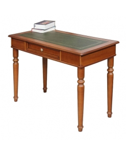 carved desk, wooden desk, classic desk, desk for office, office desk, desk with leather top, classic style furniture, turned legs desk, solid wood desk, study room furniture