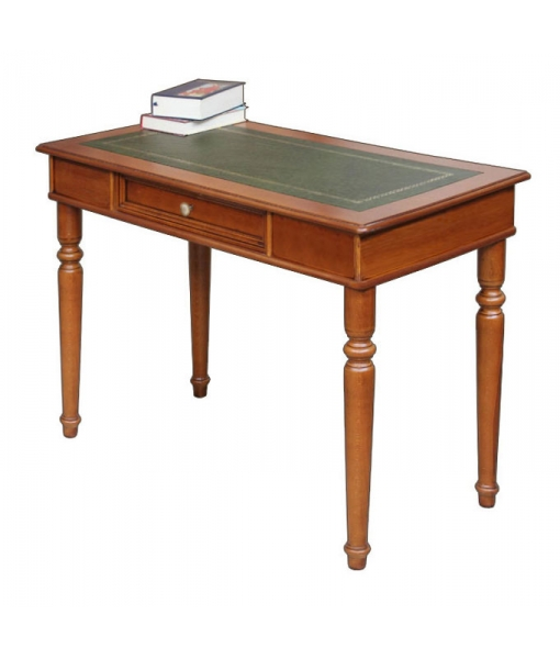 Wooden desk with leather top. Sku 107-RB