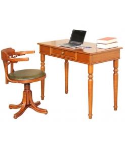 combinazione di scrittoio e sedia girevole