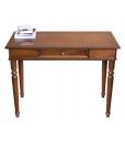 classic desk in wood, wooden desk, office desk, classic desk, desk, 1 drawer desk, turned leg,