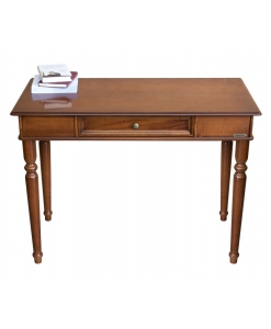 classic desk in wood, wooden desk, office desk, classic desk, desk, 1 drawer desk, turned leg,