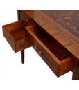 inlaid 5 drawer desk, wooden desk, inlaid writing desk, writing desk for office, office furniture, classic furniture,