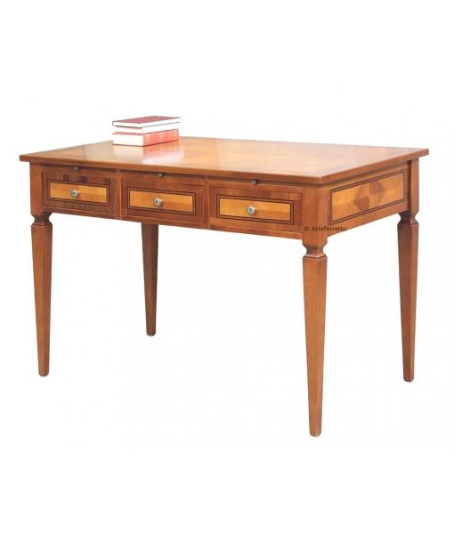 3 drawer wooden desk for office. Sku 13040