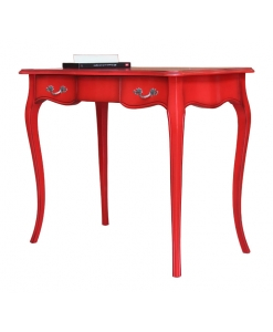 red desk, desk, wooden desk, italian design desk, office desk, modern furniture, office furniture