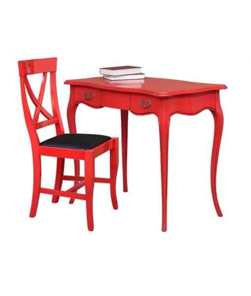 red desk, desk, wooden desk, italian design desk, office desk, modern furniture, office furniture