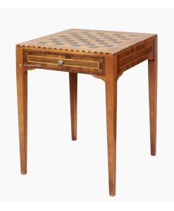 Chess board table in wood. Sku 13065
