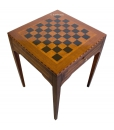 Chess board table in wood, living room table, side table, square side table, chess board table