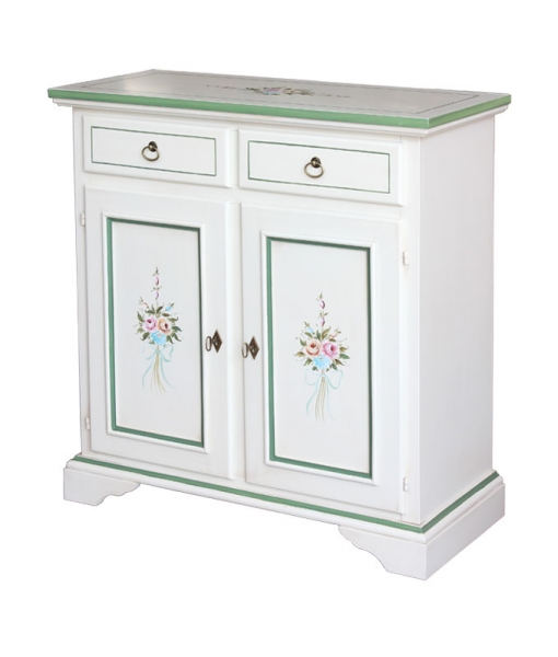 Sideboard with floral hand painted decoration. product code: 1331