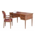 wooden desk with leather top, classic desk, 5 drawer desk, writing desk, office desk, classic furniture, office furniture, wooden desk for study room