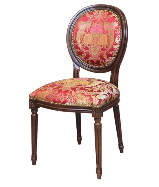 Classic chair with turned legs. Product code: 1384-C. Fabric code: SU-17