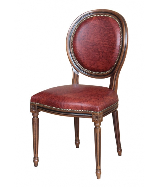 Chair with leather seat. Product code: 1384