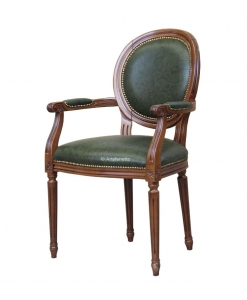 Classic armchair with leather