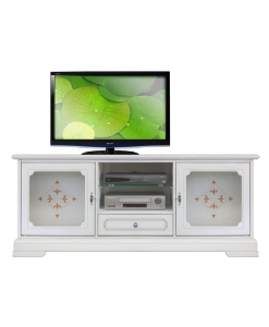 tv stand cabinet, stand cabinet, white stand cabinet, laquered tv unit, living room furniture, classic tv unit, tv unit with glass doors