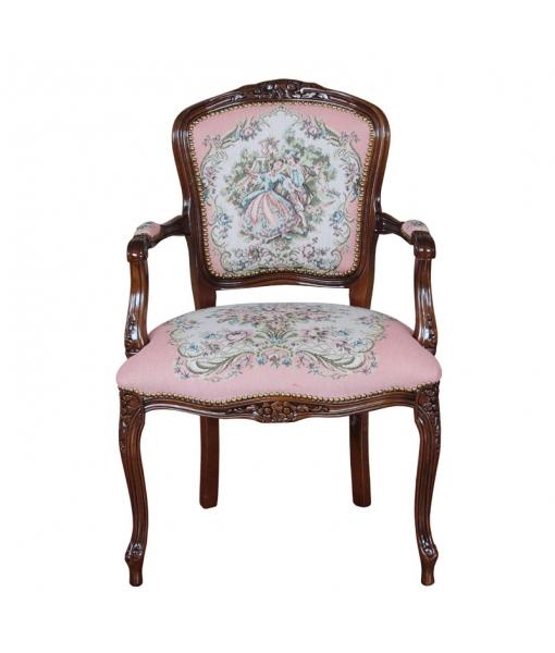 beech wood armchair, armchair, classic armchair, wooden armchair, parisian armchair, living room armchair, armchair in classic style, armchair with classic fabric, padded armchair, classi parisian armchair