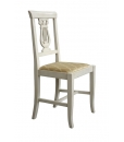 white chair, wooden chair, classic style chair, white furniture, kitchen chair,