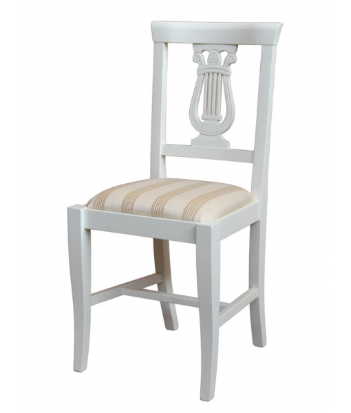 Lacquered wood chair for dining room. sku. 1873-BI