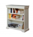 low bookcase, bookkase, wood bookcase, bookcase for living room, classic bookcase, Louis Philipe style
