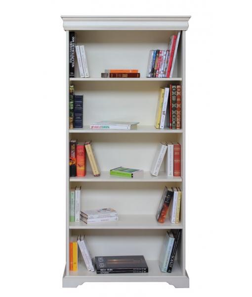 Louis Philippe open bookcase in wood. Sku 198-AV