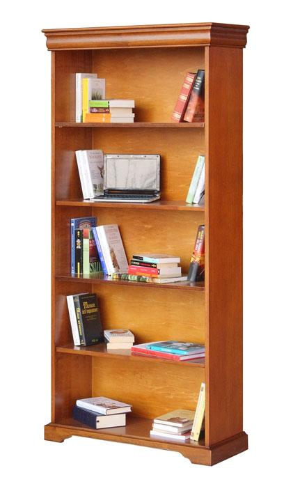 Louis Philippe Open Bookcase: Wide Open Bookcase In Wood