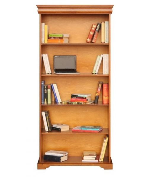 wide open bookcase, bookcase, opening bookcase, wooden bookcase, Louis Philippe bookcase, Louis Philippe style, classic bookcase, tall bookcase