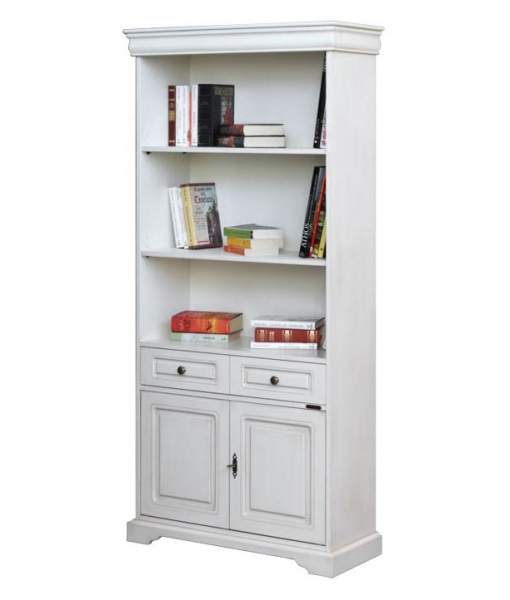 Lacquered bookcase with doors. Product code: 199-AV