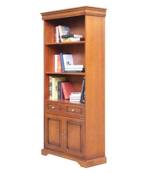 2-door bookcase, wooden bookcase, bookshelf, bookcase for living room, wooden furniture