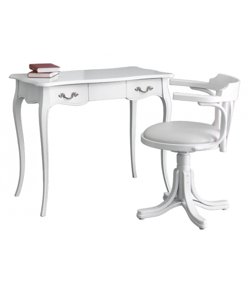 White desk and chair set for study room. Sku  1D-BI