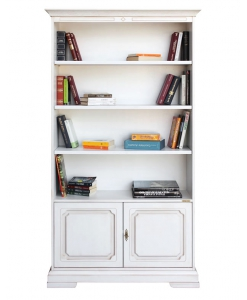 2-door bookcase, bookcase with shelves, adjustable-in-height shelves, bookcase for office, furniture for living room, furniture for office, wooden furniture