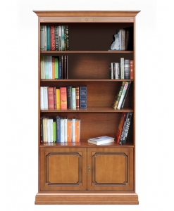 2 door bookcase, classic bookcase, tall bookcase, wooden bookcase, office bookcase, classic style furniture, classic furniture, office furniture, bookcase with adjustable in height shelves