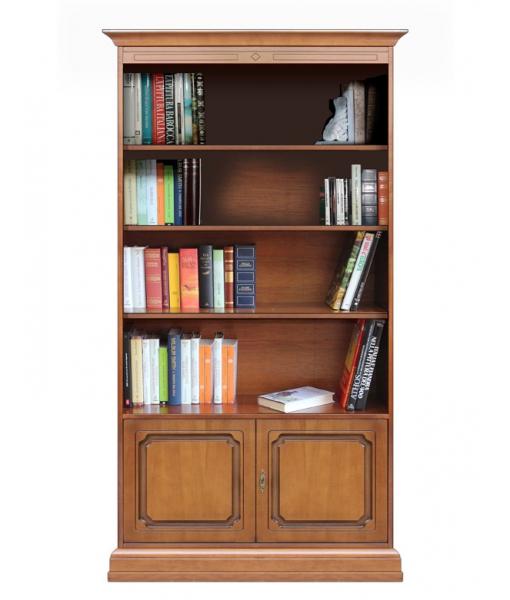 2 door bookcase in wood for office or study room. Sku 201