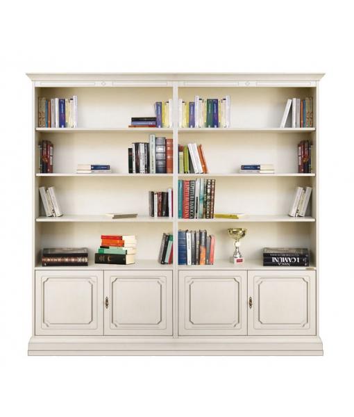 Double wide bookcase for office, living room or study room. Sku 202-AV