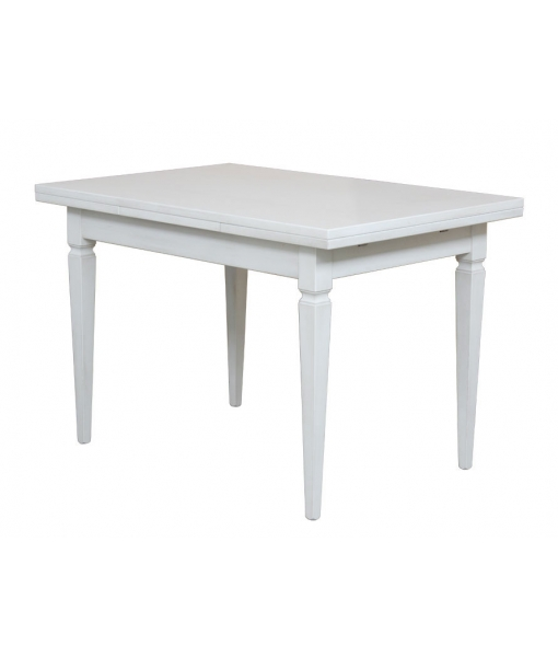 Extendable wooden table with tapered legs. Sku. 204-BI