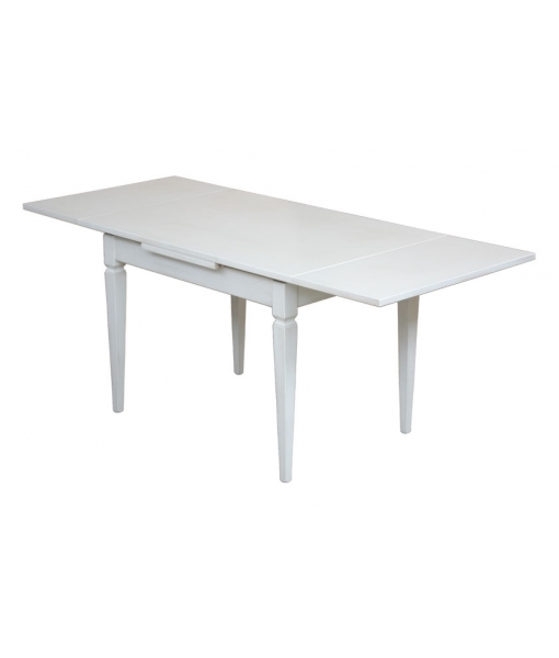 white table, extendable wooden table, lacquered table, extendable rectangular table, rectangular table, wooden table, kitchen table, dining table, dining room table, classic table,