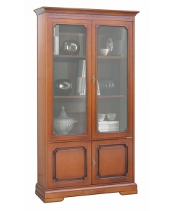 4 door display cabinet, wooden display cabinet, classic wooden cabinet, classic furniture, classic bookcase, office bookcase, living room bookcase,