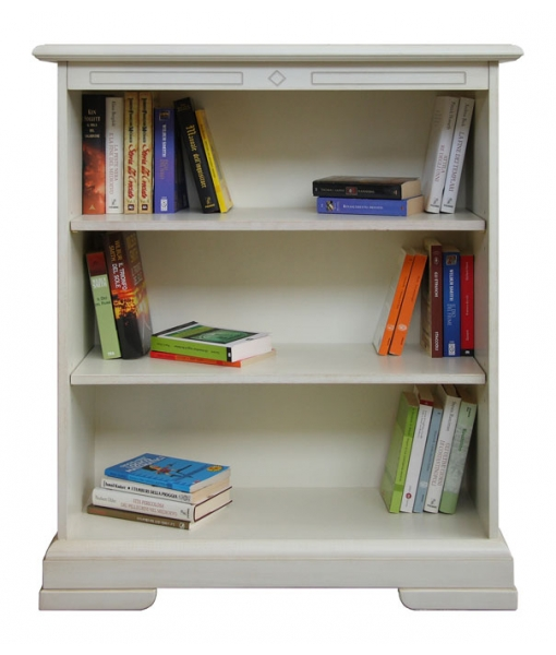 low bookcase, wooden bookcase, white bookcase, bookshelf, classic bookcase, small bookcase, office furniture, study room furniture, classic furniture