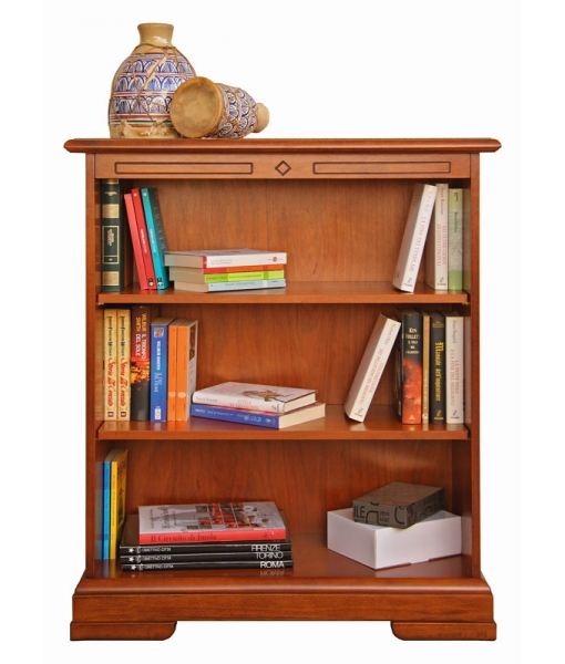 Low wooden bookcase with adjustable in height shelves. Sku 220