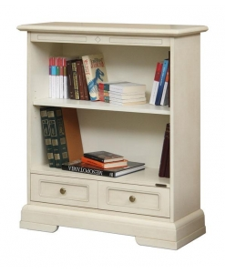 low wooden bookcase, office furniture, bookshelf, white bookcase, wooden bookcase, living room furniture,