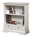 low wooden bookcase, office furniture, bookshelf, white bookcase, wooden bookcase, living room furniture,