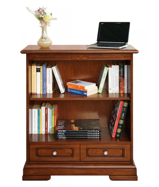 1 drawer bookcase in wood for office or study room. Sku 221