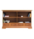 low bookcase, double bookcase