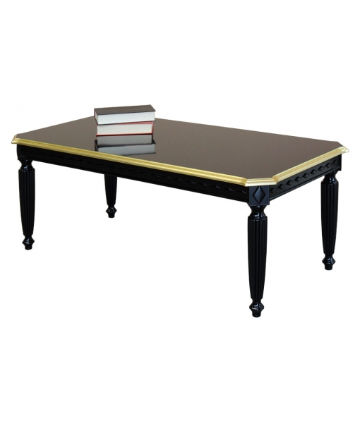 Black coffee table, for elegant living room. Sku 236NGD