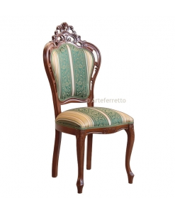 pierced wooden chair, wooden chair, classic chair, dining chair, upholstered chair