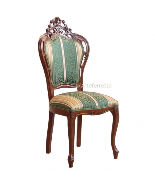 Pierced wooden chair. SKU: 2498-F