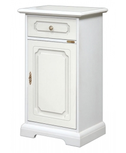 Small white cabinet, entryway cabinet, small cabinet, small cabinet with drawer, furniture for entryway