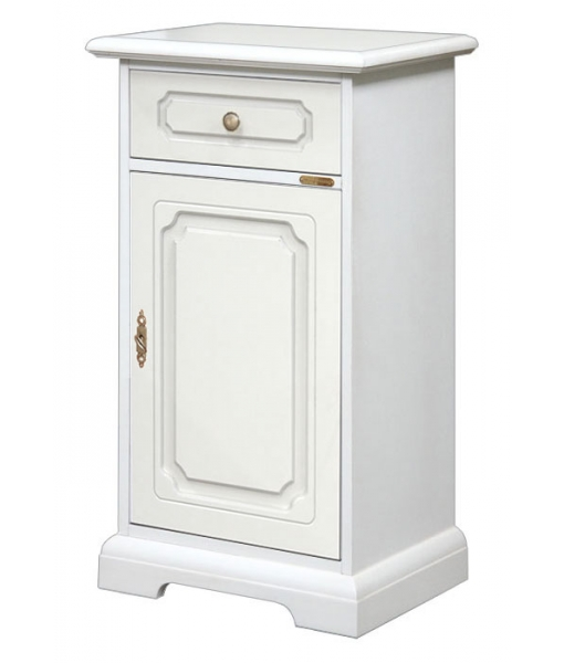 Small white cabinet. Entryway cabinet. Product code: 3001-BI
