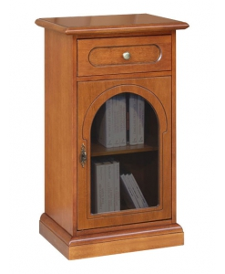 wooden cabinet round glass door, display cabinet, side cabinet with glass door, lamp cabinet, Arteferretto furniture
