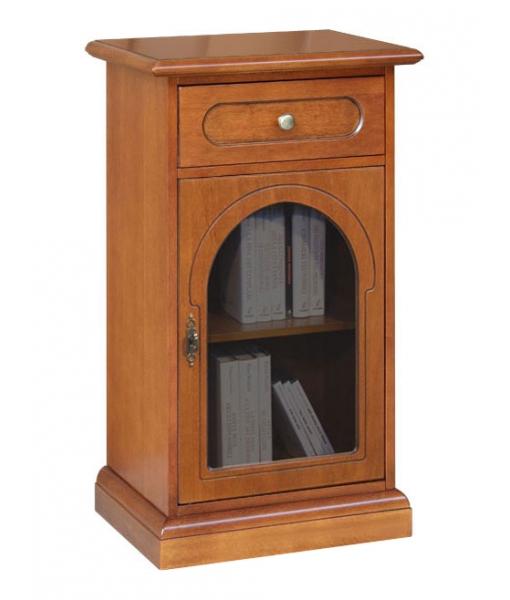 Wooden cabinet roud glass door. Sku 3002-b