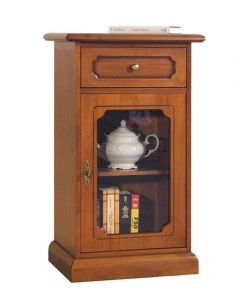 small display cabinet in wood for entryway, small cabinet, wooden cabinet, storage cabinet, display cabinet, Arteferretto furniture